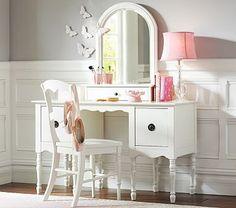Ella Desk & Mirrored Hutch