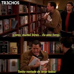 Find and save Two and a Half Men Memes - One of the best shows on TV . See, rate and share the best two and a half men memes funny pics. Two And Half Men, Half Man, I Love Books, Books To Read, My Books, Tv Show Quotes, Book Quotes, The Bigbang Theory, World Of Books