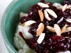 Danish Christmas Rice Pudding With Berry Compote:   From the book Roast Figs, Sugar Snow by Diana Henry   Serves 6to8 [click for recipe] looks like a good one!