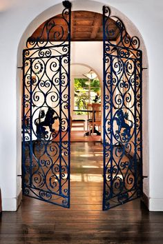 iron gate inside the main front door entering the living room | Beautiful  Living Rooms | Pinterest | Iron gates, Doors and The games