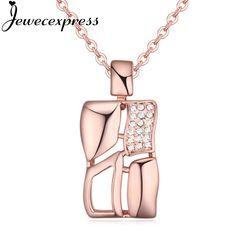 Jewecexpress Creative bottle Crystal Pendant Necklace