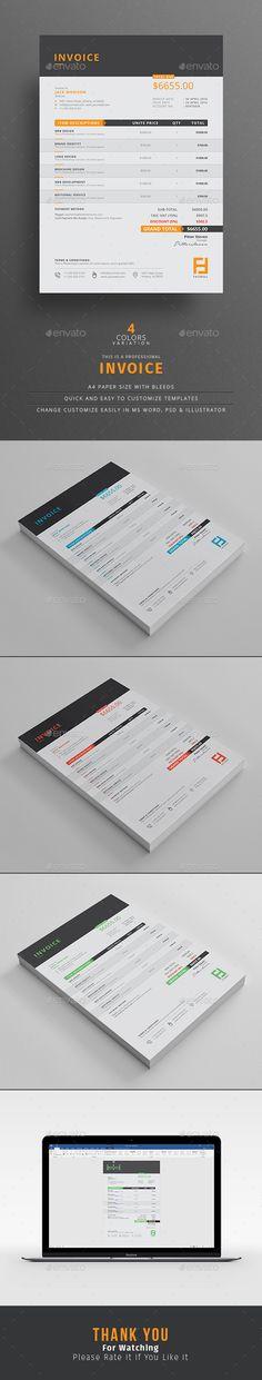 Invoice Invoice design - personal invoice