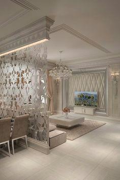 Home Decor: Creative Ideas for Dividing Large And Small Spaces Home Room Design, Home Interior Design, Living Room Designs, Living Room Decor, Bedroom Decor, Wall Decor, Living Rooms, Deer Decor, Bench Decor