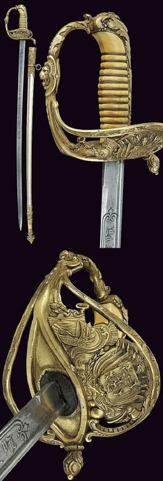 A presentation sabre, dating: third quarter of the 19th Century provenance Spain.