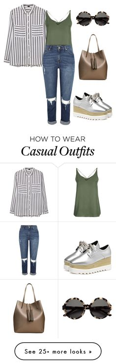 """""""just casual"""" by tatiana-benedito on Polyvore featuring MANGO, Topshop and H&M"""
