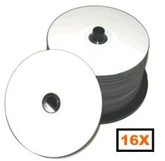 Prodisc 16X DVD-R White Thermal Hub Printable 500 Pack in Cakebox by Prodisc. $134.99. Prodisc DVD-R's hold 4.7GB of data and offer excellent quality and reliability.  DVD-R's offer high capacity storage for multimedia and video applications.  White Thermal Hub Printable surface. Manufacturer ID: PRODISC F02.. Save 30% Off!