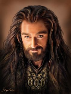 Amazing smiling Thorin inspired by me <3 by Aegileif.deviantart.com on @deviantART