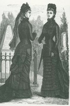 victorian mourning clothes | ... to wear mourning clothes, though girls sometimes wore white dresses