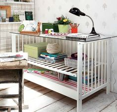 10 Cool Ways to Upcycle Your Baby's Crib-Before you throw your old baby crib to the curb, you should check out some of these creative ways you can reuse it in your home.
