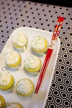 Ninjago Party Lego Key Lime Cupcakes Ninja Birthday Parties Themes Girl Sushi Rolls Chopsticks Favor Boxes
