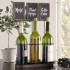 Birch Lane Chalkboard Wine Rack
