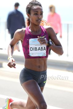 Genzebe Dibaba - I wish I could run half as fast as she can and still look that good.