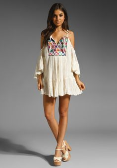 Beautiful boho smock top with embroidery