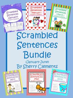 GIVEAWAY! SCRAMBLED SENTENCES BUNDLE (JANUARY-JUNE) - Writing and Reading Practice! Great for morning work, homework, center time, mini lessons, or summer practice/review! (ends 01/08/15) Enter for your chance to win!