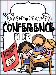 Parent/Teacher Conference Folder Notes To Parents, Parents As Teachers, Teacher Pay Teachers, Teacher Stuff, Parent Teacher Conference Forms, Parent Teacher Conferences, Math Fact Fluency, Reading Fluency, School Tool