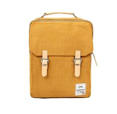 Cotton Square Backpack Mustard by BagDoRi on Etsy