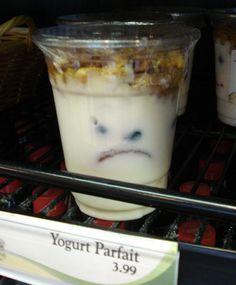 Yogurt Parfait does not approve of your shenanigans.