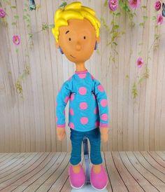 "Patti Mayonnaise Doug Nickelodeon Doll Vinyl Plush 20"" Vtg Rare Rubber Face"