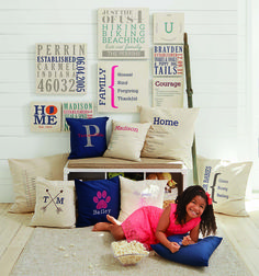 Statement Wall Art Personalized Pillows Thirty-One