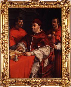 Portrait of Pope Leo X with Cardinals Giulio de Medici and Luigi De Rossi - Ultra HD!