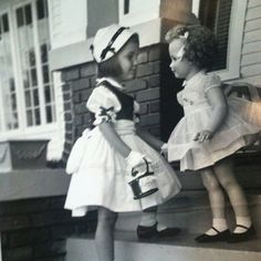Vintage photo of Child & Doll