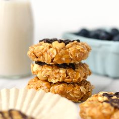 Healthy No-Bake Peanut Butter Cookies with Crunchy Peanuts
