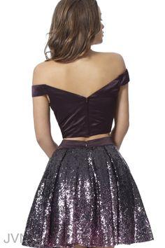 d729932ca2 JVN62314 Back Sequin Cocktail Dress