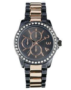 Imagen 1 de Reloj de eslabones con rosa de hematita de New Look ASOS 16,15