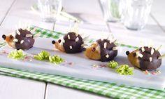 Kuchenigel - Süße kleine Igel aus fertigen Zitronen-Küchlein