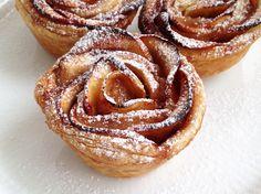 tartas postres fáciles tartas hojaldre tartas frutas tartas bonitas tarta de manzana Rosas de hojaldre y manzana presentación postres postres recetas delikatissen postres rápidos postres fáciles transportar