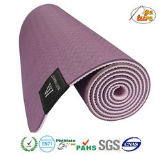 Eco Friendly Two Layer TPE Premium Yoga Mat with Mat Bag