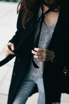 add a few layered rings into a casual weekend look