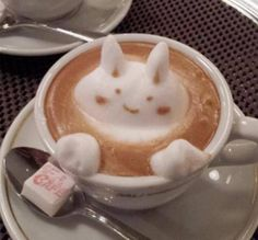 Coffee art #coffee #art #latte how cute for a kids hot chocolate! art café