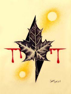 Tattoo Sketch Geometric Leaf