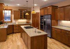 Oak kitchen, refinishing cabinets