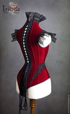 Victorian Gothic body corset. This is the back view. Front view is also pinned | By Irina IriSSa Pavshin: