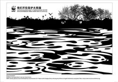 WWF water outline by Eye magazine, via Flickr