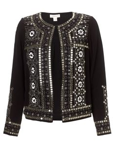 Irena Embellished Jacket | Black | Monsoon