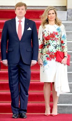 Los Reyes de Holanda reciben al presidente mexicano Peña Nieto y su mujer en su visita oficial