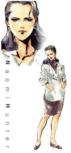 MGS1. Naomi Hunter. Yoji Shinkawa.