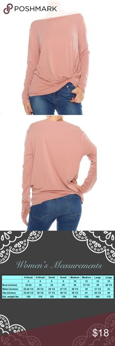 Blush Modal Rib Long Sleeve Top Blush Modal Rib Long Sleeve Top  ☀️70%Modal 30%Polyester ☀️Made in USA  Serious buyers please & No Low ballers! Asking for half or more off an item is Low Balling.   Please understand the sizes listed on the size chart are different between manufacturers & suppliers & this chart should only be used as an approximate guide. Amor Adore Tops Blouses
