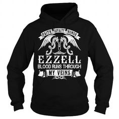Awesome Tee EZZELL Blood - EZZELL Last Name, Surname T-Shirt T-Shirts