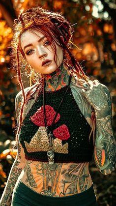 Lit pins daily 🔥 full body tattoo, body tattoos, girl tattoos, coiffure d. Tattoo Girls, Girl Tattoos, Tattoos For Guys, Trendy Tattoos, Sexy Tattoos, Body Art Tattoos, Hippe Tattoos, Dreadlocks Girl, Et Tattoo