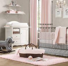 I love every single inch of this nursery. Pink. Grey. White. Elephants.