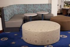 Fremantle Sailing Club | Furniture Options. Curved banquette seating for sports club.