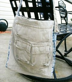 repurpose cargo pants into hand bag