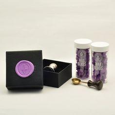 Custom Wax Seal Stamp and Wax Beads Set