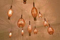 hand made bamboo lights