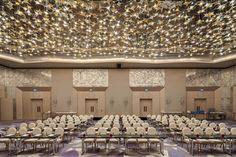 Raffles Hotel Istanbul, Turkey. #conference #room #bohemian #crystal #stars #ceiling #event #meeting #lighting #design