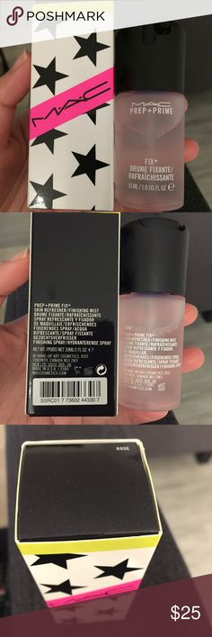 MAC Prep+Prime Fix+ Rose Limited Edition Brand new in Box limited edition travel size of MAC Prep+Prime Fix+ Rose scent. Amazing Skin Refresher/finishing mist. 30ml/1fl oz MAC Cosmetics Makeup